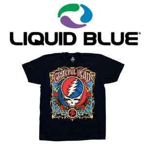 Liquid Blue Grateful Dead Steal Your Roses T-Shirt